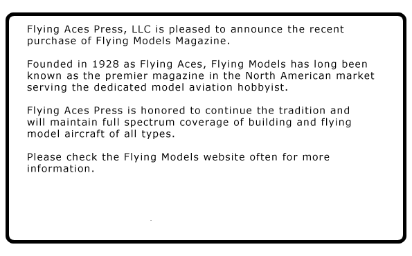 Flying Models Magazine